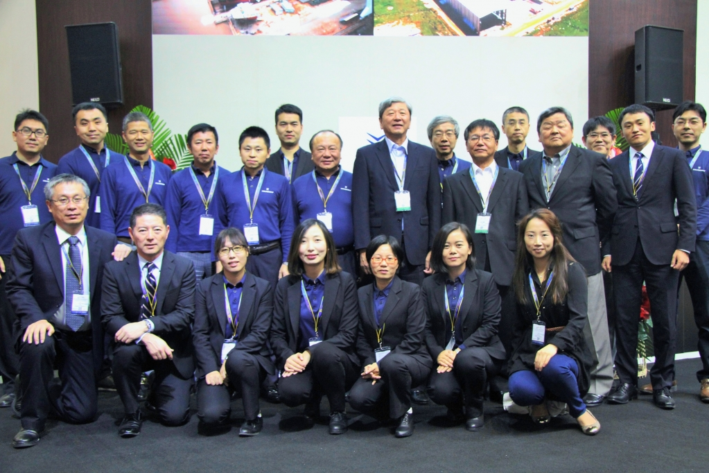 The management team and maritime fair staff