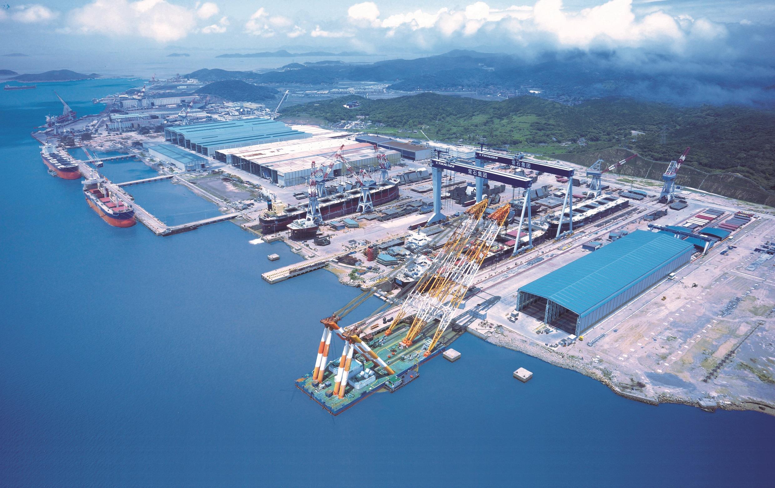 TSUNEISHI GROUP (ZHOUSHAN) SHIPBUILDING is added  to China's shipbuilding white list