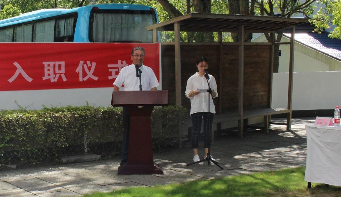 发表欢迎致辞的佐藤二郎总经理